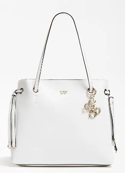 BOLSO GUESS SHOPPER COLGANTE LOGO BLANCO