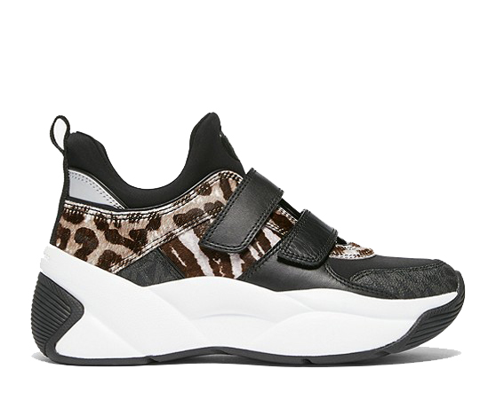 Zapatillas Michael Kors negras con animal print