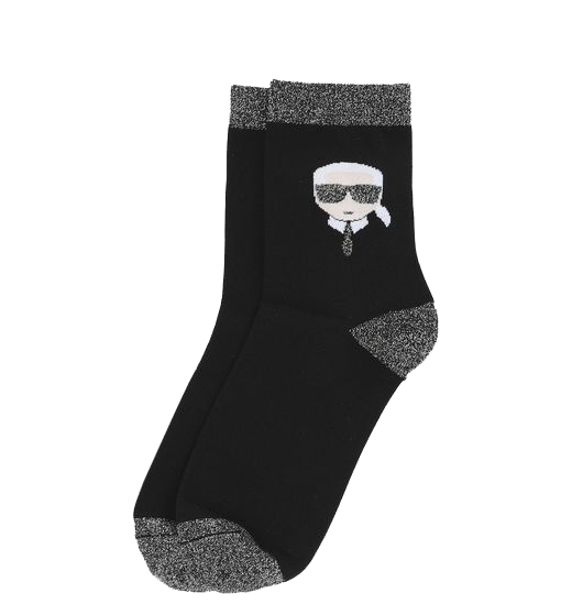 Calcetines Karl Lagerfeld negros con muñeco