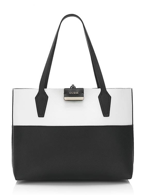 Bolso GUESS reversible negro blanco