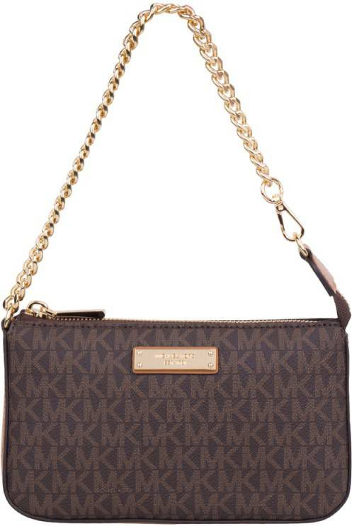 Mini bolso Michael Kors cadena logo marrón