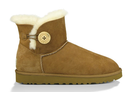 Botas UGG mini bailey boton lateral CAMEL