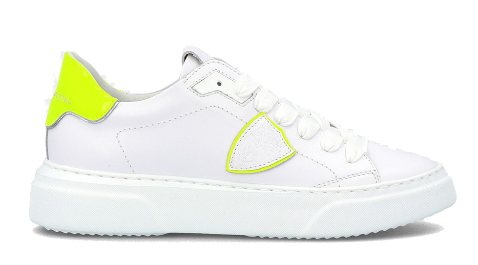 Zapatillas Philippe Model blancas amarillo fluor