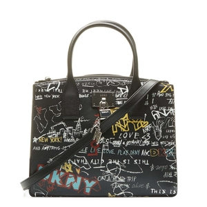 Shopper DKNY graffitis NEGRO