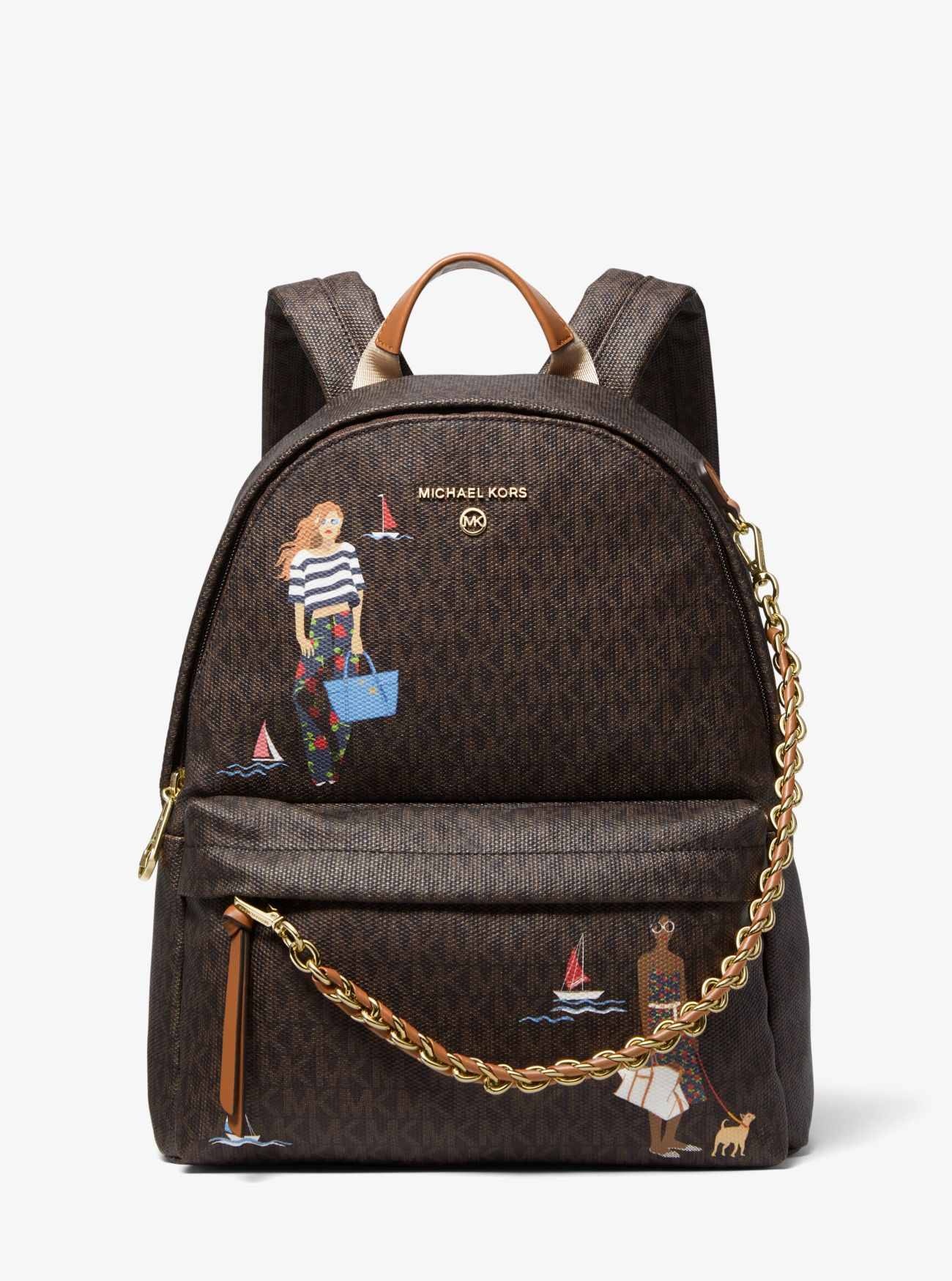 Mochila Michael Kors Jet Set Girls marrón
