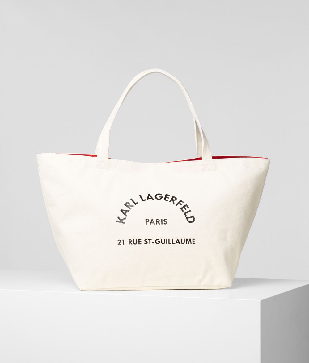 Bolso Karl Lagerfeld 21 Rue St-Guillaume tote textil natural